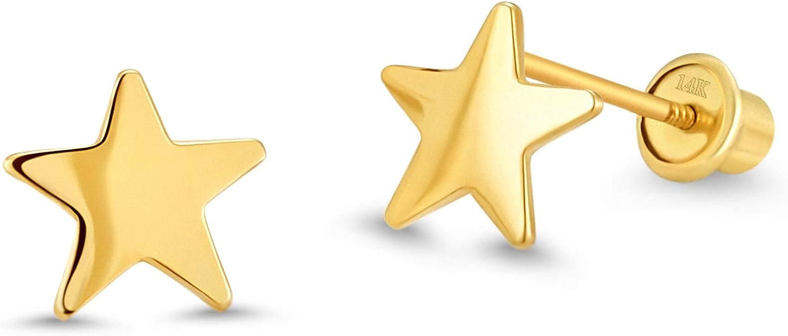 Details about  /Child/'s Baby Kids Dora Nick Boots Enamel Stud Earrings 10K Yellow Gold Screwbck