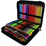 Thornton's Art Supply Colored Pencil Set And Zippered Case, Assorted (150-Piece)