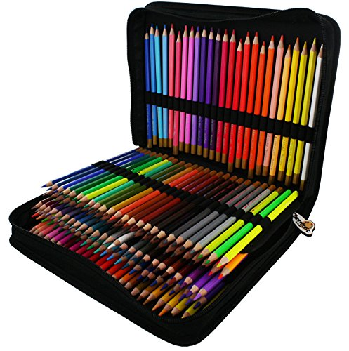 Thornton's Art Supply Colored Pencil Set And Zippered Case, Assorted (150-Piece) by Thornton's Art Supply