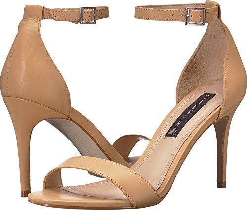 STEVEN by Steve Madden Women's Naylor Heeled Sandal, Nude Leather, 9.5 M US ()