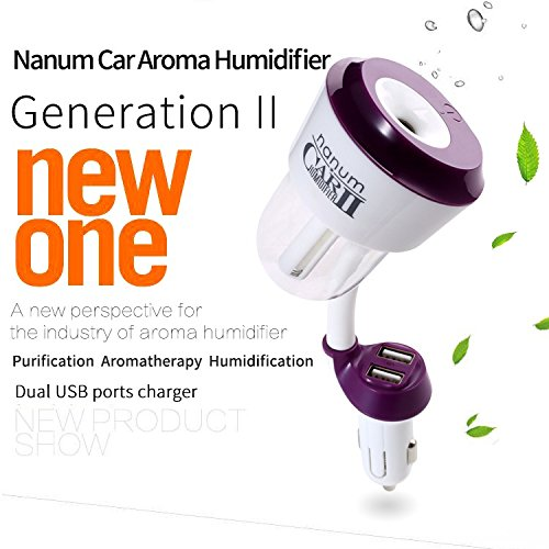 2nd Generation Mini Aromatherapy Humidifier for Car Detachable Filter Protable Mini Cool Mist Ultrasonic Aroma Essential Oil air Diffuser