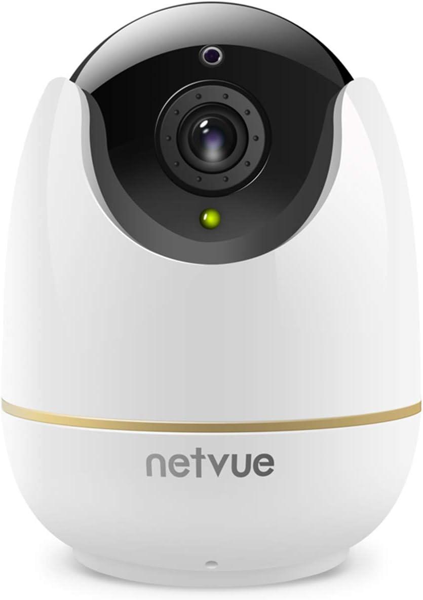 Netvue Cámaras Vigilancia WiFi Interior, Full HD 1080P Cámaras WiFi con Detección de Humano Movimiento, Zoom 8X, Visión Nocturna, Audio Bidireccional, Cámara Seguridad Inalámbrica para Bebé/Mascotas