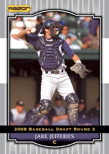 Silver Limited Edition Baseball Cards - 2008 Razor Signature Series Silver Limited Edition Baseball Card # 80 Jake Jefferies (Prospect - RC - Rookie Card) Tampa Bay Rays - MLB Baseball Trading Card