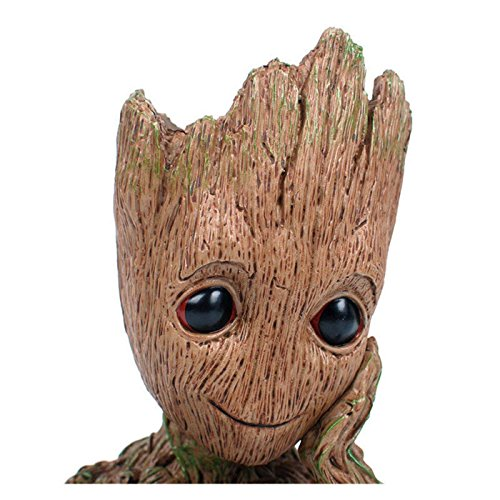 Cute Baby Halloween Ideas (B-Best Guardians of The Galaxy Groot Pen Pot Tree Man Pens Holder or Flower Pot with Drainage Hole Perfect for a Tiny Succulents Plants and Best Christmas Gift Idea)