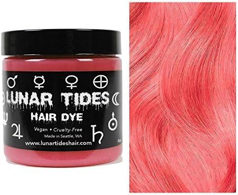 Coral Pink, tinte semi permanente para el cabello rosa - 118 ml - Lunar Tides