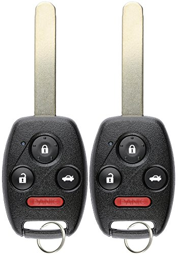 KeylessOption  Keyless Entry Remote Control Uncut Car Ignition Key Fob Replacement for OUCG8D-380H-A (Pack of 2) ()