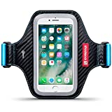 iPhone 8 / iPhone 7 Case, Shocksock iPhone 8 Armband for Sports Gym Bike Cycle Jogging Running - Reflective Design - Adjustable Elastic - Key Pocket - for arm 26cm/10.3 inches & above - Black