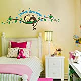 Nursery Baby's Room Lovely Monkey Sleepy Sticker Wall Decals Home Decoration