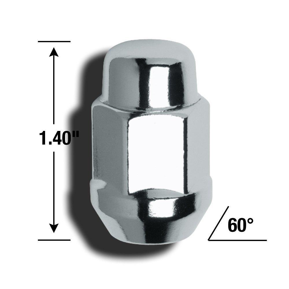 12mm x 1.25 Thread Size Gorilla Automotive 41127 Acorn Bulge Seat Lug Nuts