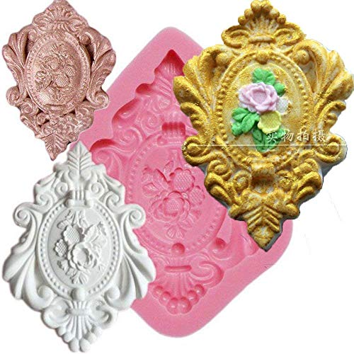 Anyana Cameo with victorian Picture frame Fondant Silicone Mold for Sugarcraft, Cake Decoration, Cupcake Topper, Chocolate, Pastry, Cookie Decor, Jewelry, Polymer Clay, Epoxy Resin, Crafting Projects