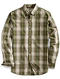 Amazon Brand - Goodthreads Men's Slim-Fit Long-Sleeve Plaid Slub Shirt