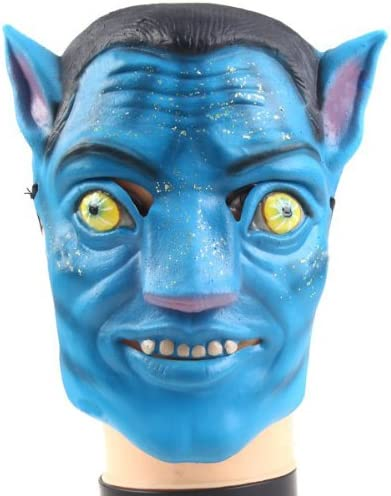 Disfraz de Halloween fiesta máscara de avatar con correa: Amazon ...