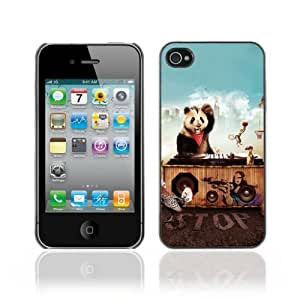 Designer Depo Hard Protection Case for Apple iPhone 4 4S / Animals Party