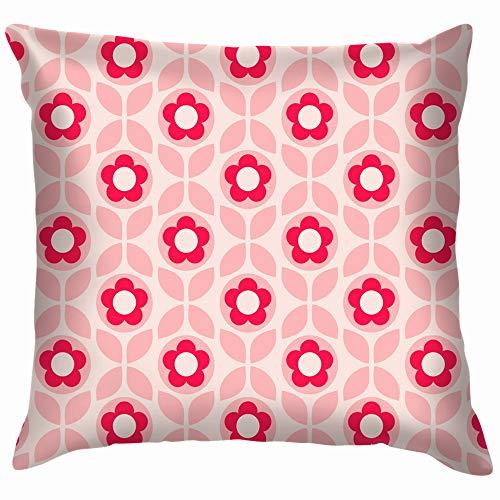 Retro Flowers Leaves Vintage Soft Cotton Linen Cushion Cover Pillowcases Throw Pillow Decor Pillow Case Home Decor 24X24 Inch]()