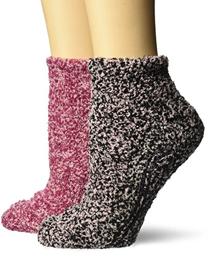 - Dr. Scholl's Women's 2 Pack Soothing Spa Low Cut Lavender + Vitamin E Socks with Silicone Treads, Black/Pink, Shoe Size: 4-10