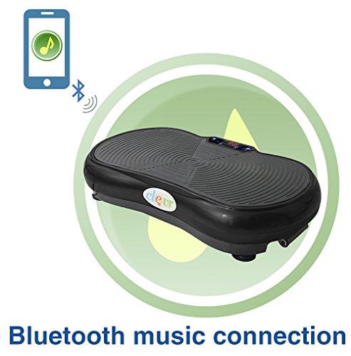 UPC 794348900985, Black Mini Crazy Fit Full Body Vibration Thin Platform Massage Machine Bluetooth