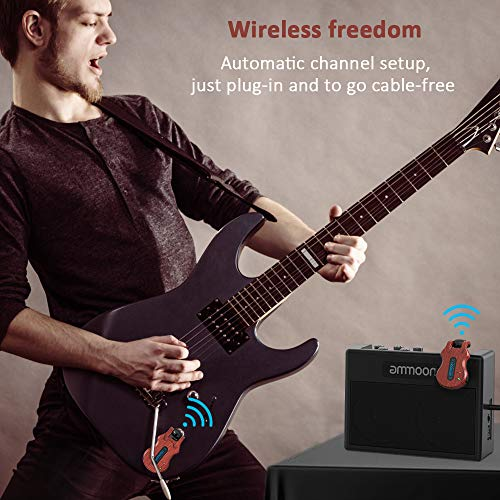 ammoon Wireless Guitar System 4 Channels Audio Digital Guitar Transmitter Receiver 300 Feet Transmission Range by ammoon (Image #5)