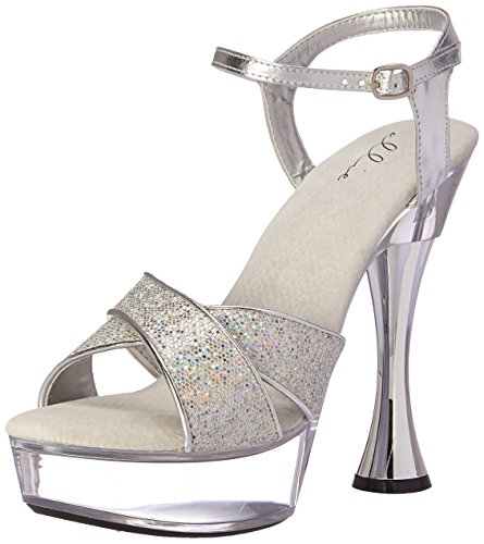 Ellie Shoes Womens C-Janie Platform Sandal Silver rD3hZili