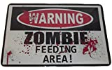 Warning Zombie Feeding Area Sign 8 X 12 Inches New Aluminum