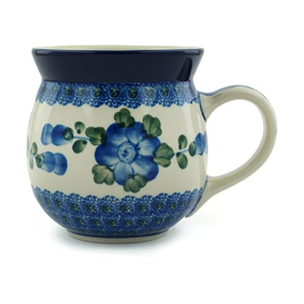 Polish Pottery 16 Oz. Bubble Mug – Blue Poppy Ceramika Artystyczna