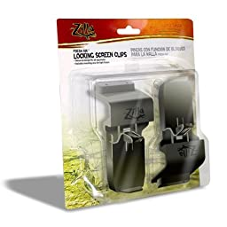 Zilla Reptile Terrarium Covers Fresh Air Locking Screen Clips, 2-Pack
