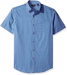 Van Heusen Men\'s Flex Stretch Short Sleeve Non Iron Shirt, Blue Grecian, 2X-Large