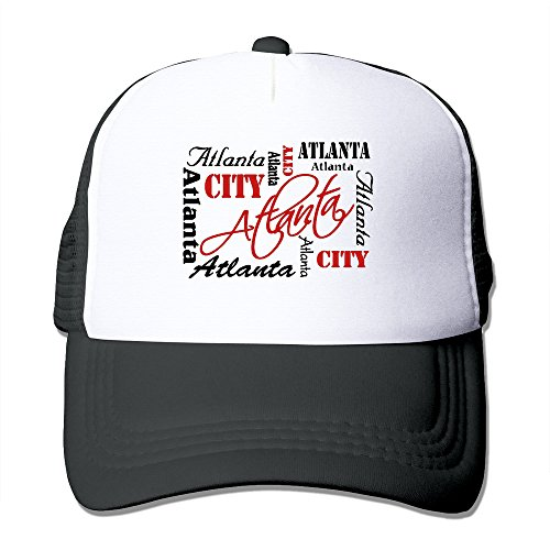 Atlanta City Adjustable Trucker Hats Caps Black Men - Miami Hurricanes Jersey Baseball