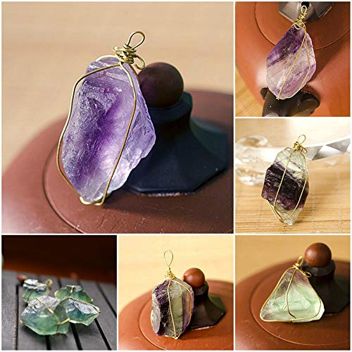 Stones - Pure Natural Quartz Crystal Pendant Stone Unpolished Colorful Green Blue Random Fluorite Healing - Hand Room Shirt Color Enhancer Golf Plus Wand Band Stone Tall Shoes Plates Skirt