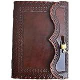 Leather Journal Lockable Journal Blank Vintage Journal Graduation Gift Handmade Notebook Sketchbook with Lock and Key