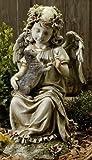 IWGAC Joseph Studio Angel with Kitten Outdoor Garden Statue Figurine Decoration 47443