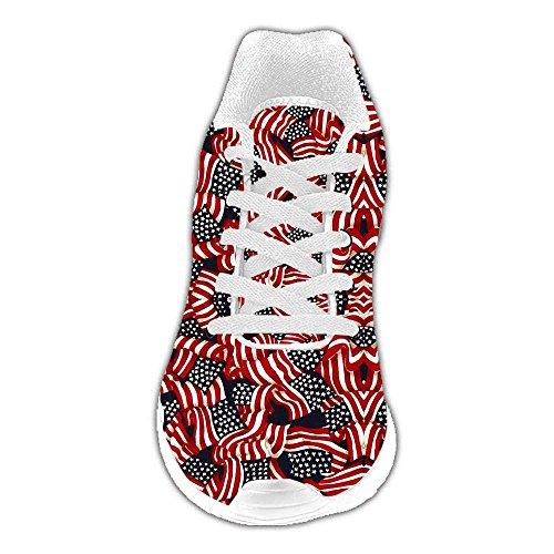 Las Zapatos Estadounidense Dalliy A Bandera Mujeres Personalizado Corrientes De RRW1AU