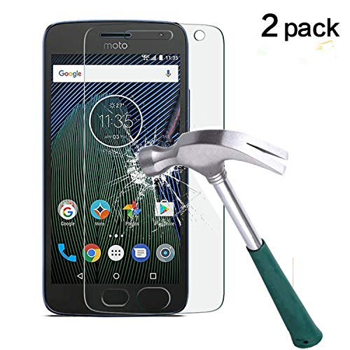 Moto G5 Plus Screen Protector,TANTEK Anti-Bubble,HD Ultra Clear,Scratch Resist,Premium Tempered Glass Screen Protector for Motorola Moto G Plus 5th Generation,-[2-Pack]