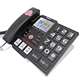 DQMSB Fixed Telephone Home Elderly Landline Large Screen Large Font Large Button Family