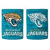 NFL Jacksonville Jaguars Glitter Accented Double Sided Garden Flag, Medium, Multicolored