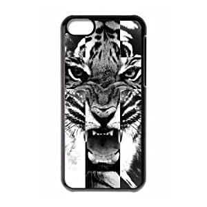 Tiger Roar Cross ZLB514375 DIY Phone Case for Iphone 5C, Iphone 5C Case