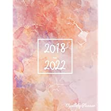 2018 - 2022 Monthly Planner: Monthly Schedule Organizer |Agenda Planner For The Next Five Years, 60 Months Calendar, Appointment Notebook, Monthly Planner, Action Day, Passion Goal Setting