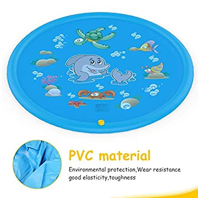 Shonlinen Portable Outdoor Inflatable Water Spray Play Mat Children Play Mat Beach Toys: Clothing