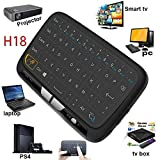 Timmery Mini Wireless Keyboard,H18 2.4GHz Wireless Whole Panel Touchpad and Mini Keyboard, Full Screen Extra Large Touch Zone for Google Android TV Box, HTPC, PC, PS3, Xbox 360, Pad,PS4