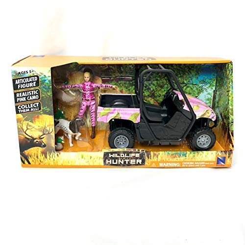 New Pink Camo - Wildlife Hunter Pink Camo Bird Hunting Playset - Female Hunter ATV Bird Dog and Ducks