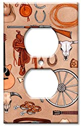 Art Plates - Western Switch Plate - Outlet Cover