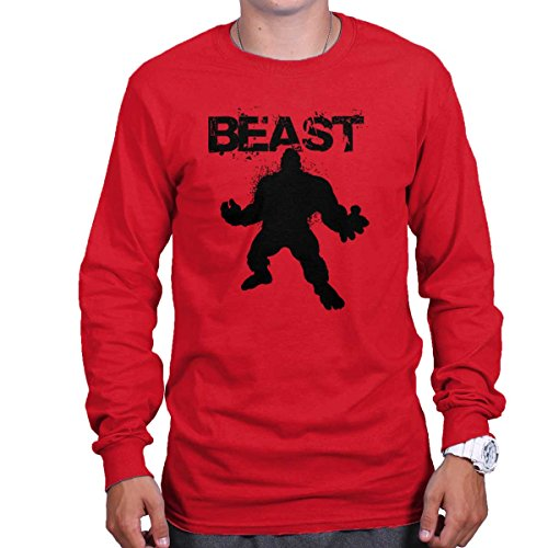 Beast Long T-shirt Sleeve (Beast Mode Hulk Shirt 24 Bodybuilding Gym Workout Clutch Gift Long Sleeve Shirt)