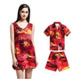 Hawaii Hangover Matching Mother Son Hawaiian Luau Slip On Tunic Dress Boy Shirt Shorts Red Sunset XL-4