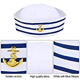 Sailor Hat Navy Yacht Captain Hat Blue with White