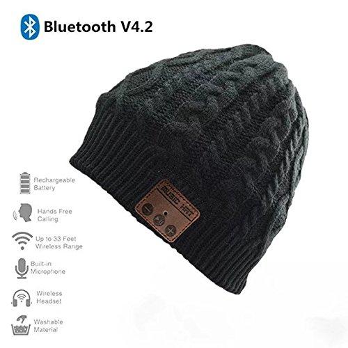 3 opinioni per Bluetooth Knit Cappello, Jtong lavabile senza fili di Bluetooth 4.2 del cappello