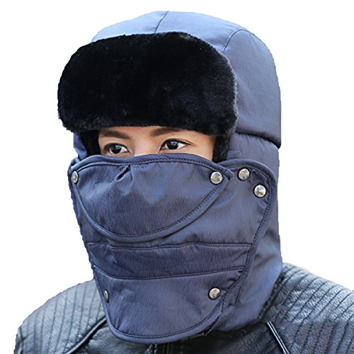 A SmokeGray Esquí De Winter Hiking Ushanka Máscara Unisex Winter Mens Viento Flap El SOOCO Hat Para Warm Prueba Ear Bomber Patinaje De q51nRYC