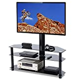 flat screen entertainment center TAVR Swivel Floor TV Stand with Mount,3-in-1 Flat Panel Entertainment Stand for 32 37 42 47 50 55 60 65 inch Plasma LCD LED QLED Flat or Curved Screen TVs TW1002
