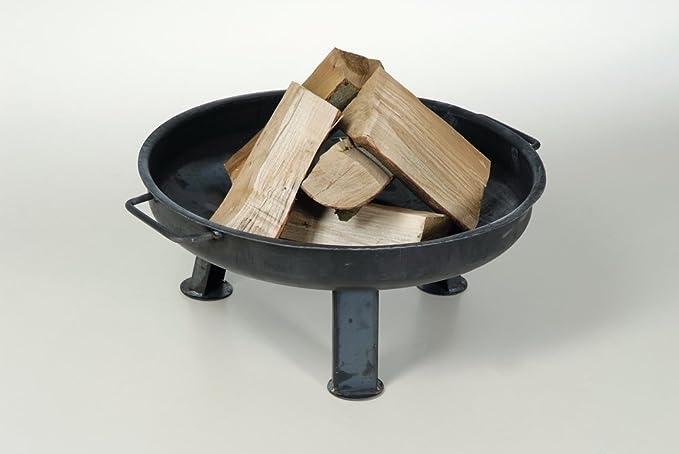 acerto 40204 Massive Feuerschale 55cm 5 STK Gro/ße Feuerschale f/ür drau/ßen Runde Metall-Feuerstelle f/ür den Garten Kaminholz Buche * Kl/öpperboden * Massiver Stahl * Made in Germany
