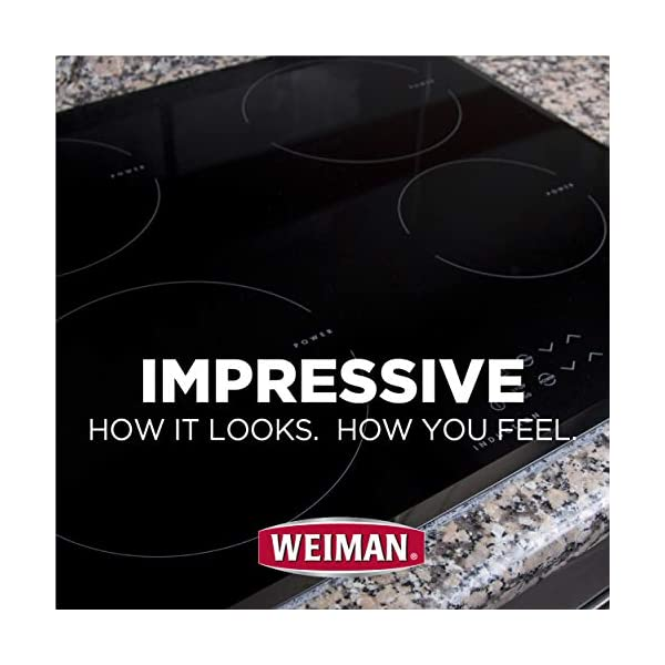 Weiman Cooktop Cleaner Kit - Cook Top Cleaner and Polish 10 oz. Scrubbing Pad, Cleaning Tool, Cooktop Razor Scraper 5