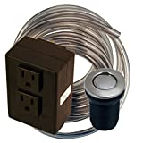 Westbrass ASB-2-07 Disposal Air Switch and Dual Outlet Control Box, Satin Nickel