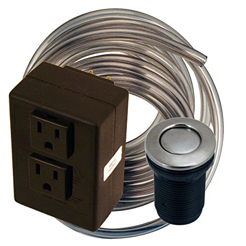 (Westbrass ASB-2-07 Disposal Air Switch and Dual Outlet Control Box, Satin Nickel)